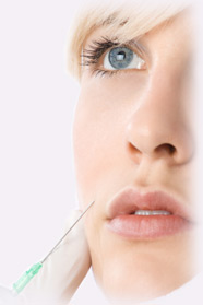 Patient being injected with dermal filler